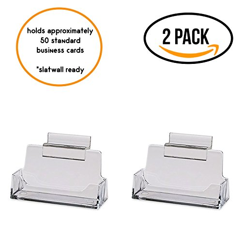 Slotwall Accessory - Source One 2 Pack Clear Slotwall Business Card/Gift Card Holders (BC-2Slot)