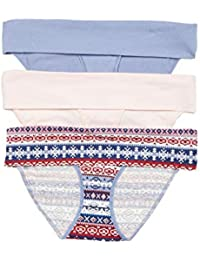 Women's Maternity 3 Pack Fold Over Brief Panties