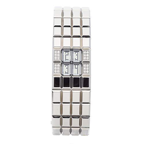Chanel Chocolat Quartz (Battery) Silver Dial Womens Watch H1340 (Certified ()