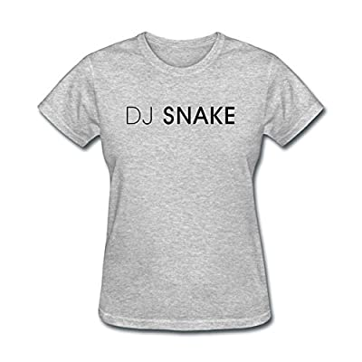 Rosar Women's DJ Snake Logo Short Sleeve T Shirt Grey