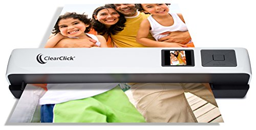 ClearClick Photo & Document Scanner with 1.45' Preview LCD, 4 GB Memory Card, OCR Software