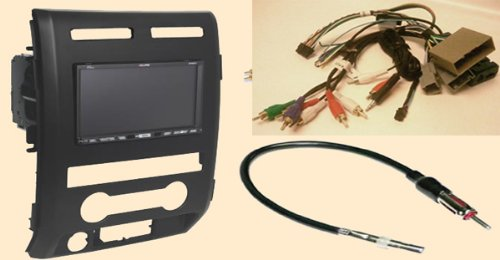 41ZlrKBFMZL amazon com radio stereo install dash kit (single and double din 2014 f150 radio wiring harness at gsmx.co