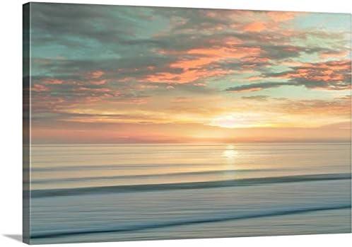 Beach Sunrise Canvas Wall Art Print
