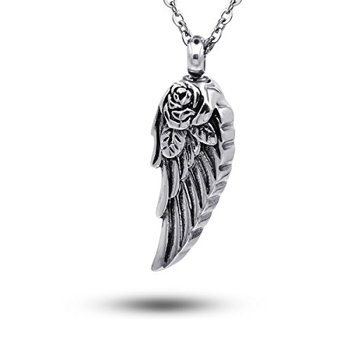 urn necklace angel wings - 2