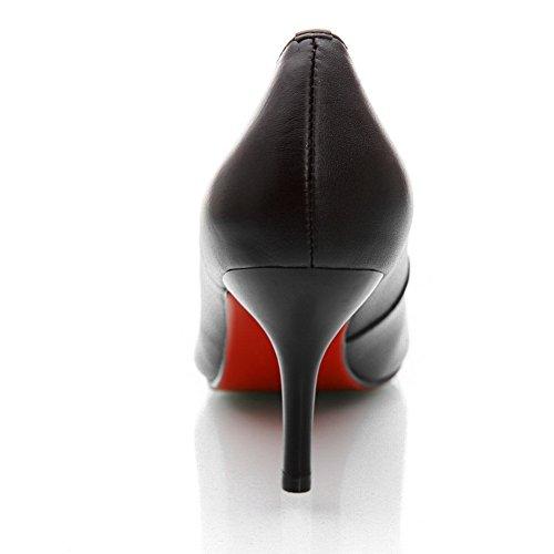 Balamasa Damene Sklisikker Romansk Stil Microfiber Pumper-sko Svart