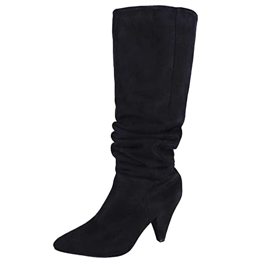 f67f7ff1fc0ed DENER Women Ladies Girls Long Boots, Over The Knee Pointed Head ...