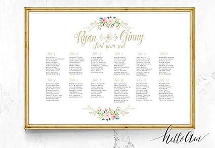 Amazon Com Malertaart Wedding Seating Chart Wedding Seating