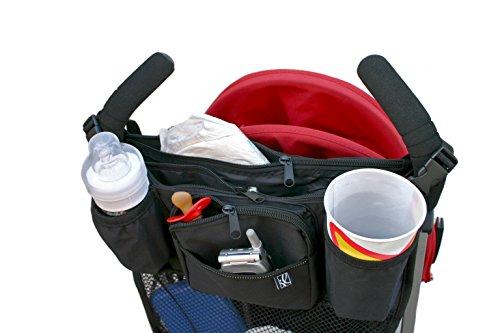 JL Childress Cups 'N Cargo Stroller Organizer, Black