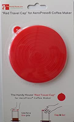 The Handy House Travel Cap for AeroPress Coffee Maker, Red