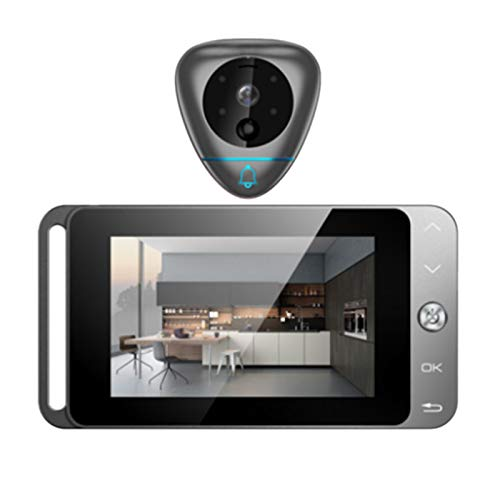 TOOGOO 4 Inch Smart Video Doorbell Wireless Peephole Viewer With T Auto-Taking Photos/Recording And Motion Detection by TOOGOO (Image #8)