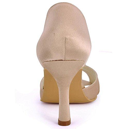 Minitoo , Chaussures de mariage tendance femme - marron - Champagne-6.5cm Heel,