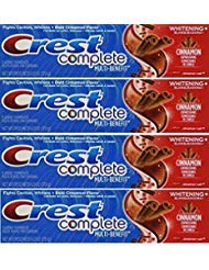 (Crest Whitening Expressions Fluoride Anticavity Toothpaste, Cinnamon Rush, 6 oz (4 Pack))