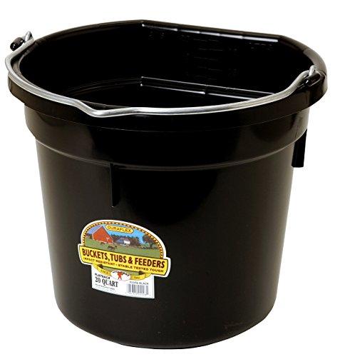 Little Giant 20 Quart Black Flat Plastic Bucket P20FBBLACK Black Bucket