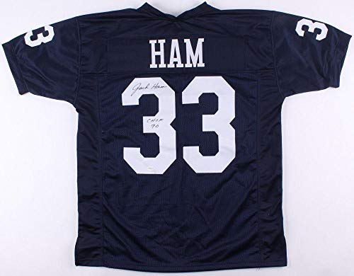 Jack Ham Signed Jersey TSE Penn State CHOF Inscription - Autographed College Jerseys ()