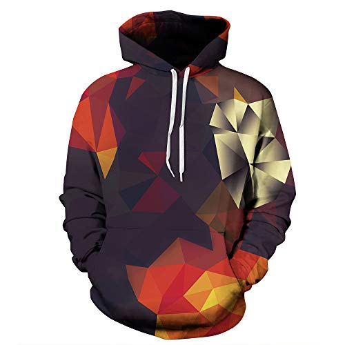 WOCACHI Mens Hoodies 3D Creative Geometry Pullover Hooded Novelty Sweatshirt Clearance Sale Promotion Deal Autumn Winter Warm Tops Blouses Shirts
