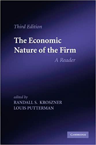 The Economic Nature Of The Firm A Reader 9780521141772 Economics