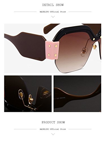 New Square lunettes de soleil femmes marque designer 2018 surdimensionné Vintage  femmes lunettes de soleil mode nuances Uv400, C1  Amazon.fr  Vêtements et  ... bef13452da89