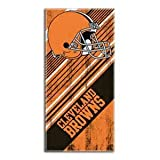The Northwest Company NFL Cleveland Browns Diagonal Beach Towel, 28 x 58-inches