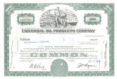Universal Oil Products, Inc - 100 - Universal Oil Inc