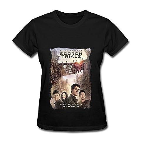 HO Thriller Moive Maze Runner The Scorch Trials T Shirt For Women Black M (The Maze Runner T Shirt Girls)