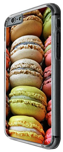 939 - cool cute fun colourful macaroons tasty food sweety candy coconut bakery pastle Design For iphone 6 6S 4.7'' Fashion Trend CASE Back COVER Plastic&Thin Metal -Clear
