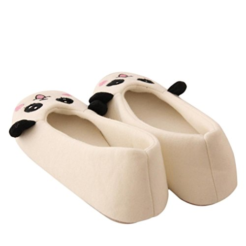 Indoor Slippers Femme Blanc Ouneed® Chaussons Pantoufles Plate fRxgAq