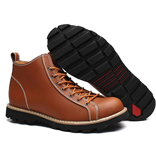 shoes shoes shoes tondi Impermeabili Tinta con Uomo Light Tinta Tinta Tinta Tinta Alti Brown Xiazhi Stivaletti Light Stivali Color Dimensione Unita EU Brown da Casual 41 Unita fw0pdq8