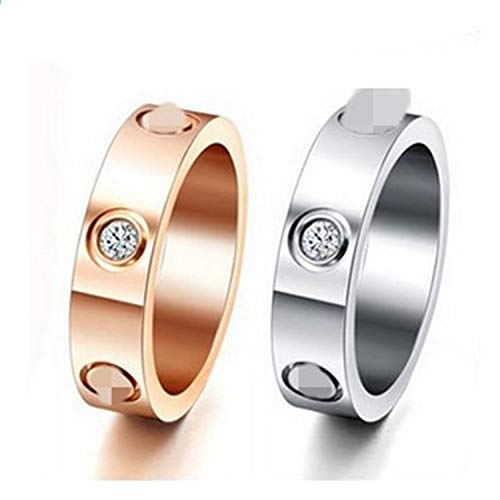 Stainless Steel Screw Rings 6Mm Filled Wedding Ring Men Women Engagement Male Logo 13