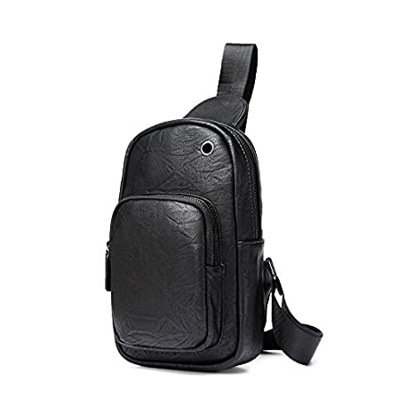 ccb7e734a2 iVotre Shoulder Sling Bag Casual and Stylish Soft PU Leather Backpack for  Men Women Utilitarian and