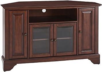 Amazoncom Crosley Furniture LaFayette Inch Corner TV Stand - Mahogany furniture