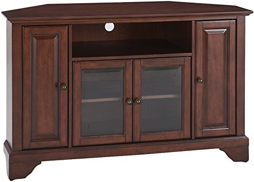 Crosley Furniture LaFayette 48-inch Corner TV Stand - Vintage Mahogany