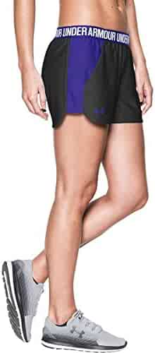 Under Armour Women's New Play up Shorts Black/Constellation Purple/Constellation Purple Shorts