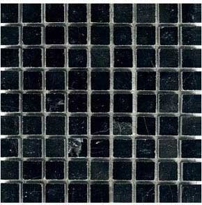 Square Marble Mosaic - Black Marble 5/8