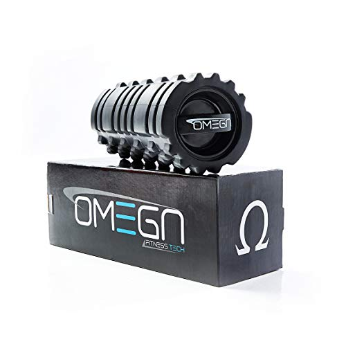 Omega 3-Speed Vibrating Foam Roller - Deep Tissue Massage, Workout Recovery, Physical Therapy, and Myofacial Release