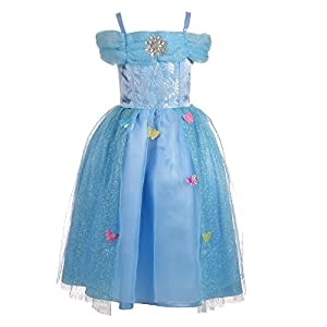 - 41ZlxeOValL - Dressy Daisy Girls' Princess Cinderella Butterfly Fantasy Costumes Party Dresses