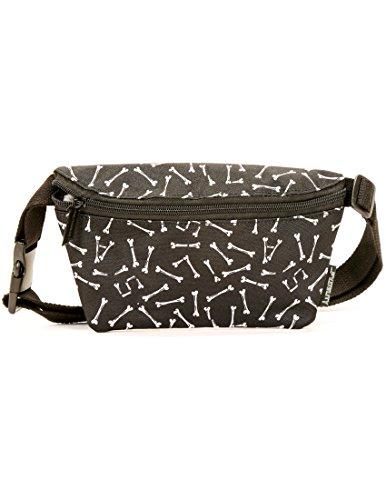 FYDELITY- Ultra-Slim Fanny Pack: GIVE THE DOG A BONE | Doggy Bag, Dog Walking, Dog Treats, Poop bag, Dog Lover by Fydelity (Image #3)