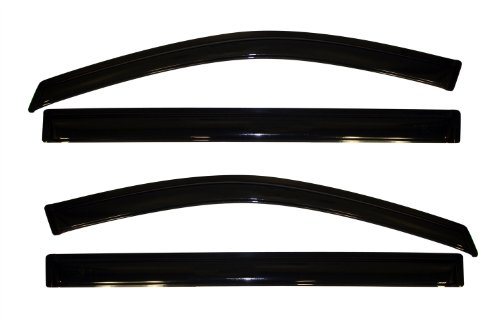(Auto Ventshade 94251 Original Ventvisor Side Window Deflector Dark Smoke, 4-Piece Set for 2008-2018 Grand Caravan, 2008-2016 Town & Country)