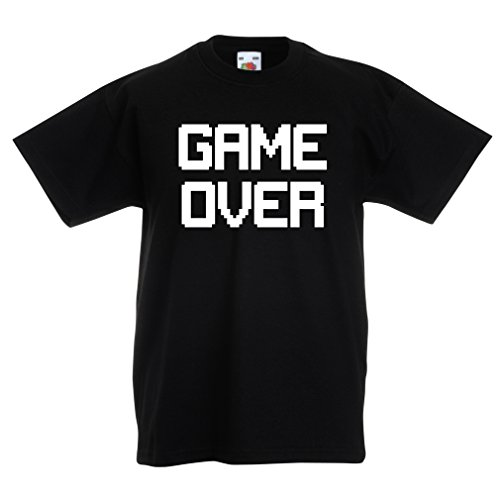 Funny t Shirts For Kids Game Over! Vintage t Shirts Funny Gamer Gifts Gamer Shirt (12-13 Years Black - Certificates Walgreens Gift