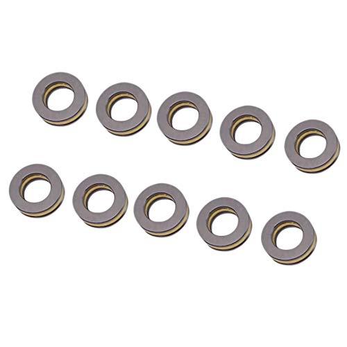 10pcs F10-18M Axial Ball Thrust Bearing 3-Parts 10mm x 18mm x ()