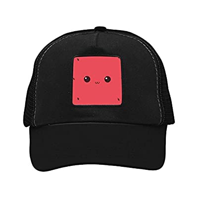 CAHAFun Unisex Adults Watermelon Smiling Face Snap Back Trucker Hat Mesh Cap