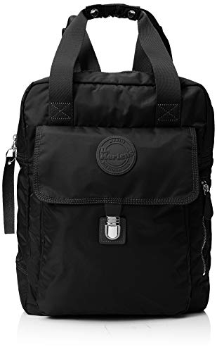 (Dr.Martens Unisex Large Nylon Backpack Nylon Black Bags One Size)