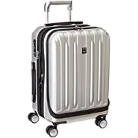 Delsey Paris Helium Titanium Hardside Luggage with Spinner Wheels (Silver)