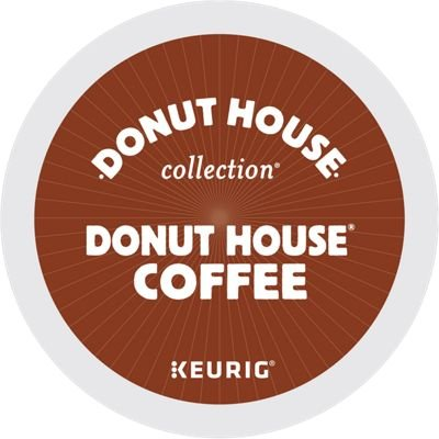 Donut House Collection Donut House Coffee Keurig Single-Serve K-Cup Pods, Light Roast, 72 Count (6 Boxes of 12 Pods) (Coffee Doughnuts)