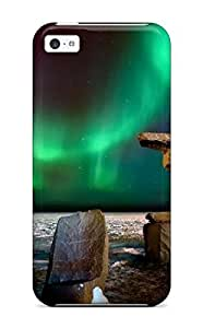 meilz aiai3394348K98682600 High Quality Creative Northern Lights Over The Inukshuk Skin Case Cover Specially Designed For Iphone -iphone 6 plus 5.5 inchmeilz aiai