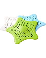Sunower Silicone Strainer Sink - 3pcs mix color Silicone Sink Drain Filter Bathtub Hair Catcher Stopper Trapper Hole Strainer