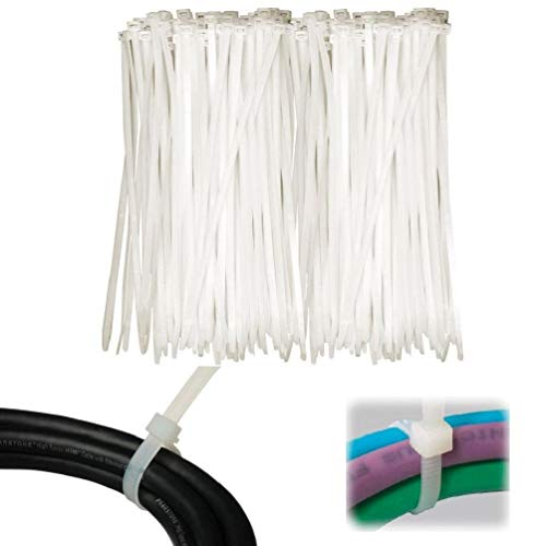 Chengshang Long Home 200 Zip Ties 6 Inch Heavy Duty Cable Cord Strap Wire Nylon Wrap Bulk Self Lock