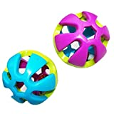Blackzone Colorful Bell Ball Parrot Bird Cats Dog Interactive Hollow Sound Making Pet Toy Random Color