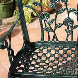 Christopher Knight Home Saint Kitts Cast Aluminum Patio Bench