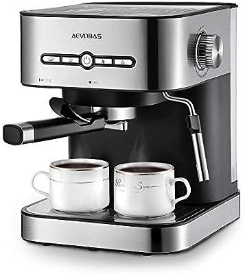 aevobas Cafetera Cafetera expreso 3 en 1, 15 bar Espresso ...
