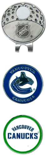 Team Golf NHL Vancouver Canucks Golf Cap Clip with 2 Removable Double-Sided Enamel Magnetic Ball Markers, Attaches Easily to Hats